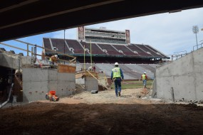 Topping Out Ceremony Held at Oklahoma Football Stadium